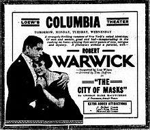 The City of Masks 1920 - Robert Warwick Lois Wilson Theodore Koslo