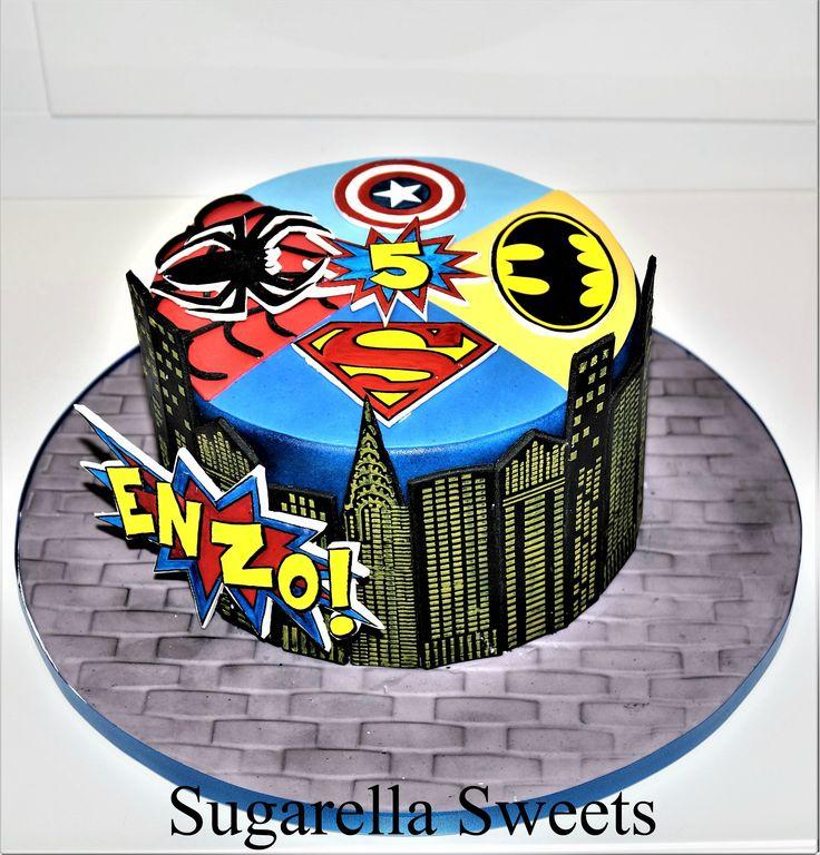 Super Hero Cake Made By Liliana Da Silva From Sugarella Sweets