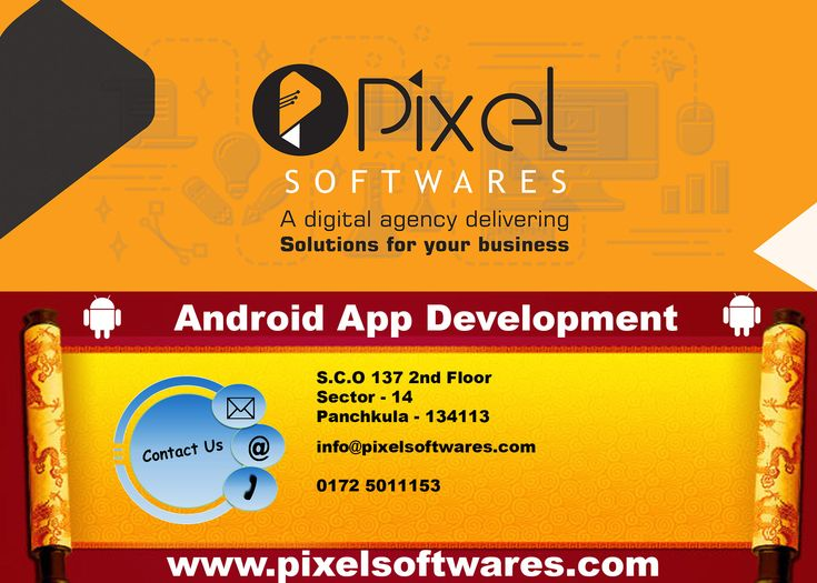 Get #Android #App #Development in #Panchkula by #pixelsoftwares.