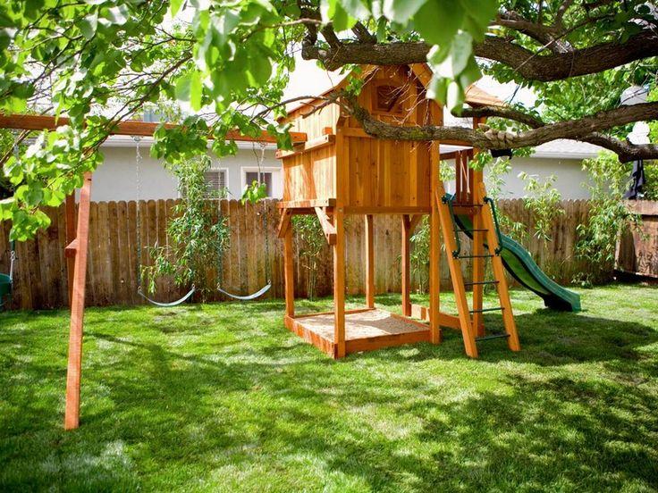 Unique Kinder Spielplatz Garten Schaukel Burg Holz