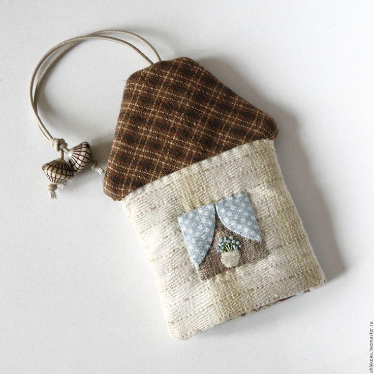 Купить Японская ключница. - комбинированный, рисунок, ключница, японская ключница, японский пэчворк, домик