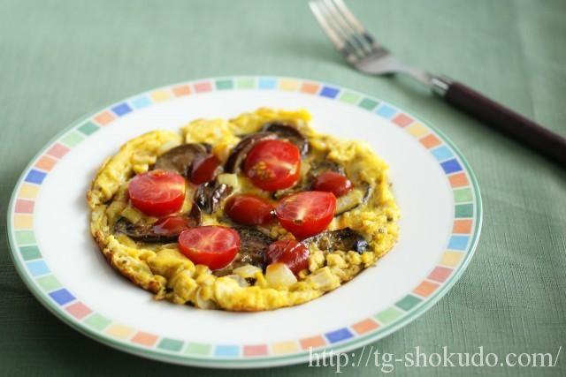 なすとミニトマトのオムレツ【中性脂肪を下げる主菜のレシピ】