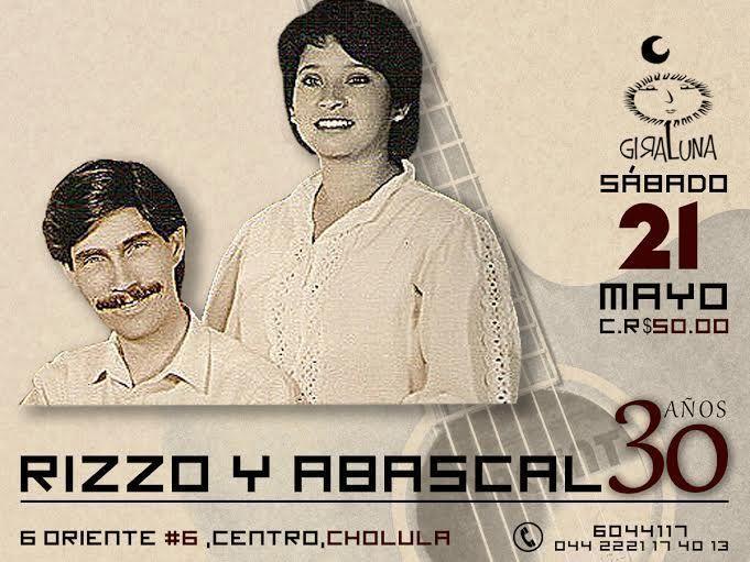 Sábado 21: Recibimos a Rizzo y Abascal con lo mejor de su repertorio.