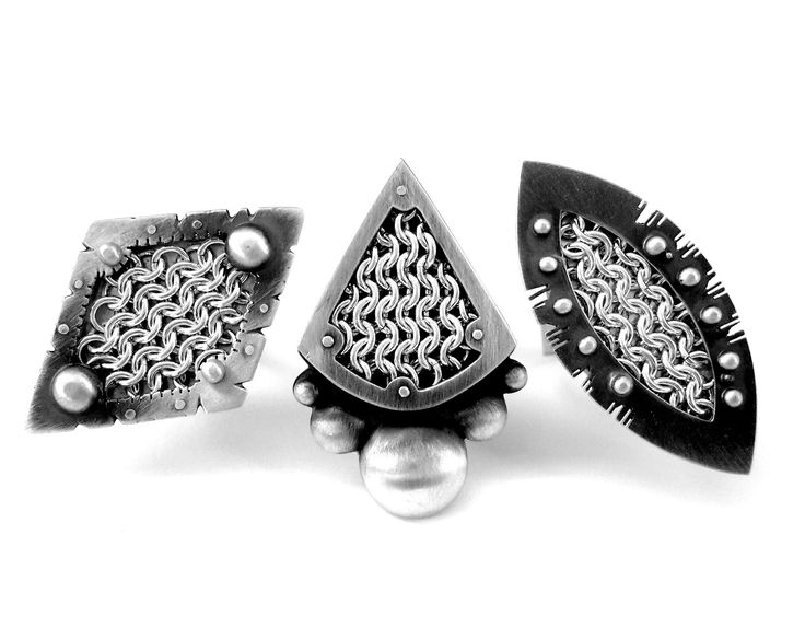 Chainmail Shield Rings