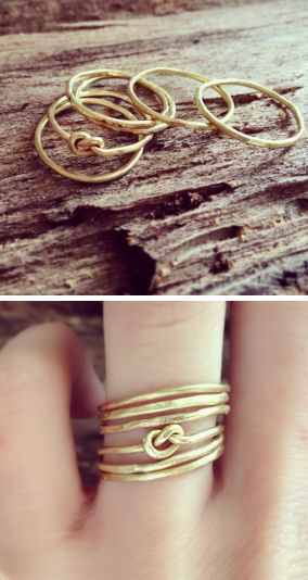 Infinity Love Knot Stacking Rings <3