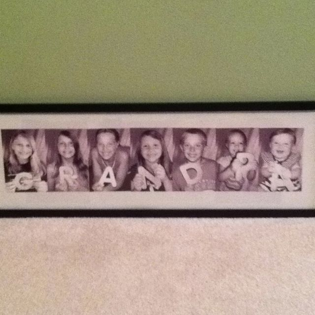 Father's Day gift for grandpa. How cute would this be with all the grand kids!
