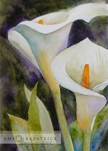 ACEO  Calla Lilies  Fine Art Print of Amy by AmyKFineArt on Etsy, $4.00