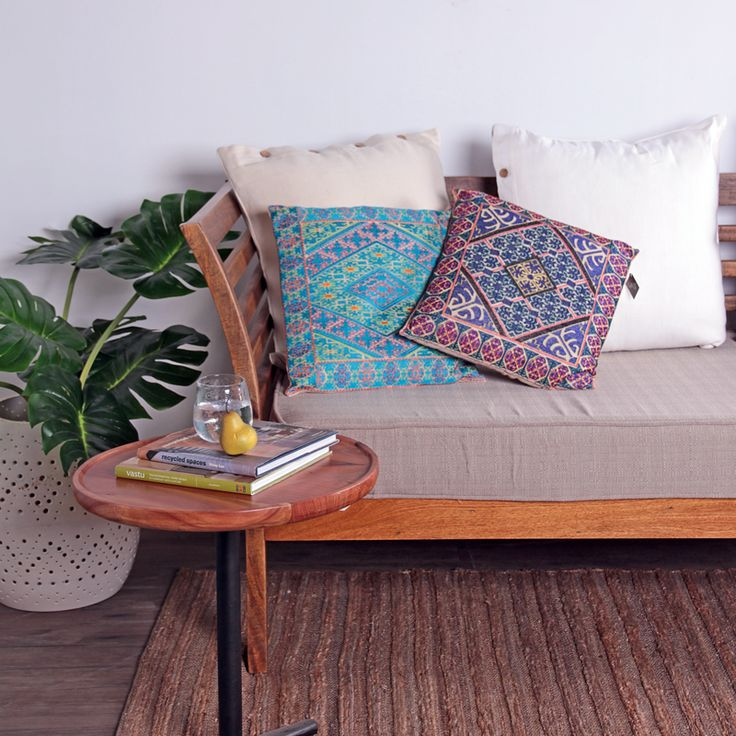Samson Daybed with Indian Textile Cushions - available at Vast Interior