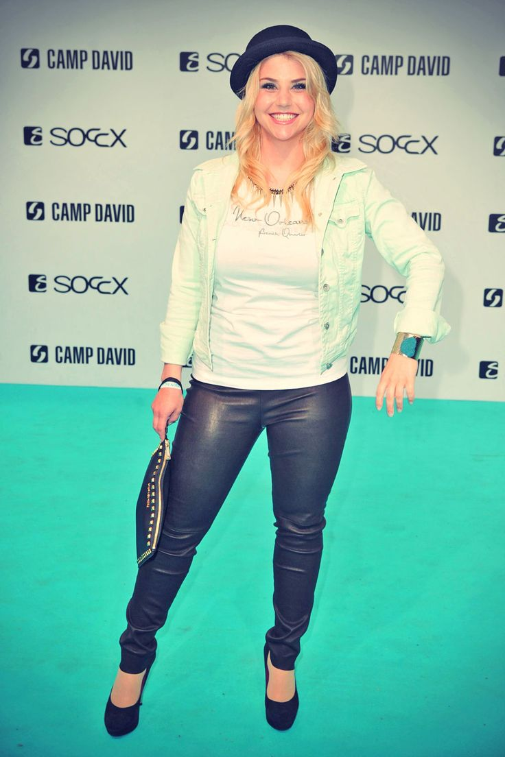 Beatrice Egli attends the Camp David And Soccx Fashion Night 2013 l