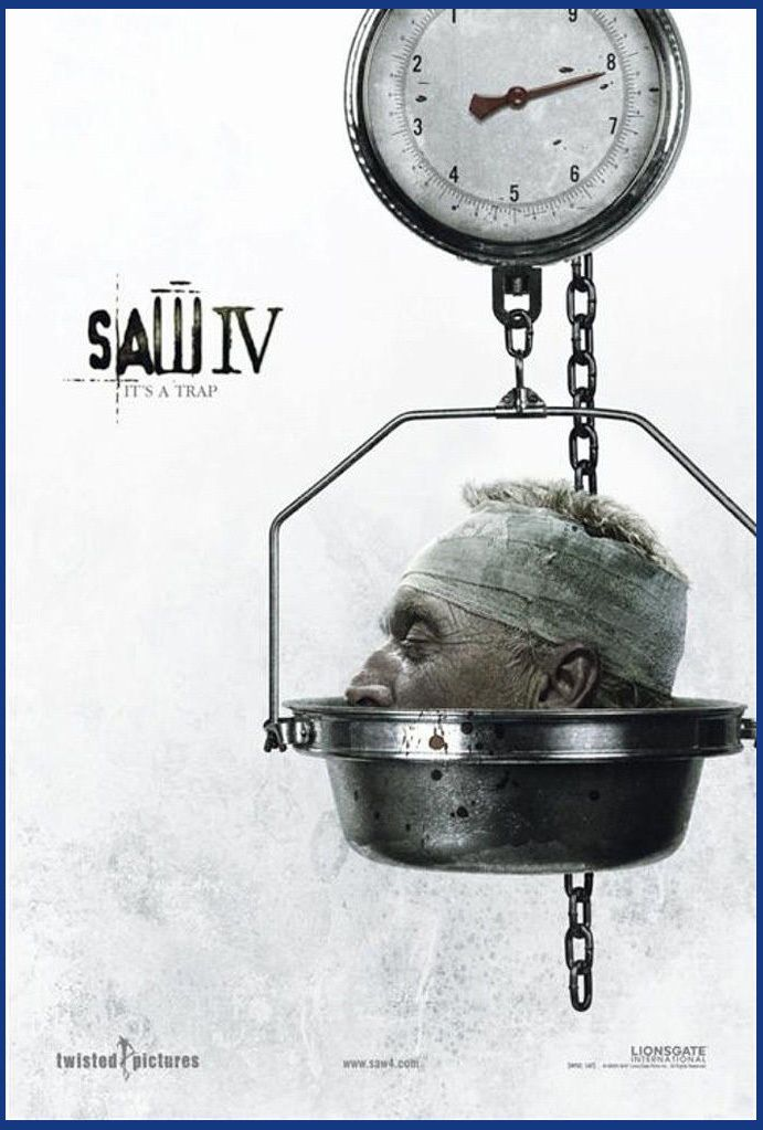 SAW IV 2007 Classic Movie Art silk Poster