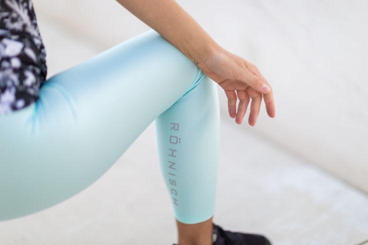 Röhnisch SS17 Shiny Tights Turquoise Leggings