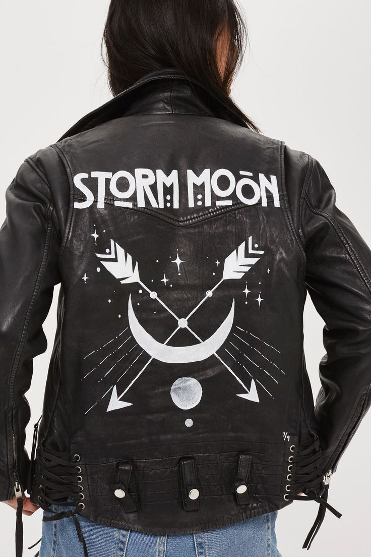 Hand-painted leather jackets are having a big moment now.