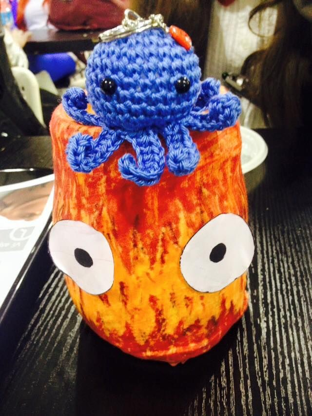 DIY calcifer + a mini cotton octopus key chain