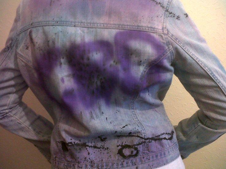 Spray Painted Jean Jacket