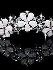 Gorgeous Alloy With Czech Rhinestones Flowers Wedding Tiara