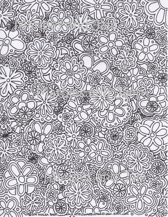flowers abstract coloring page - Coloring Pages Abstract Printable