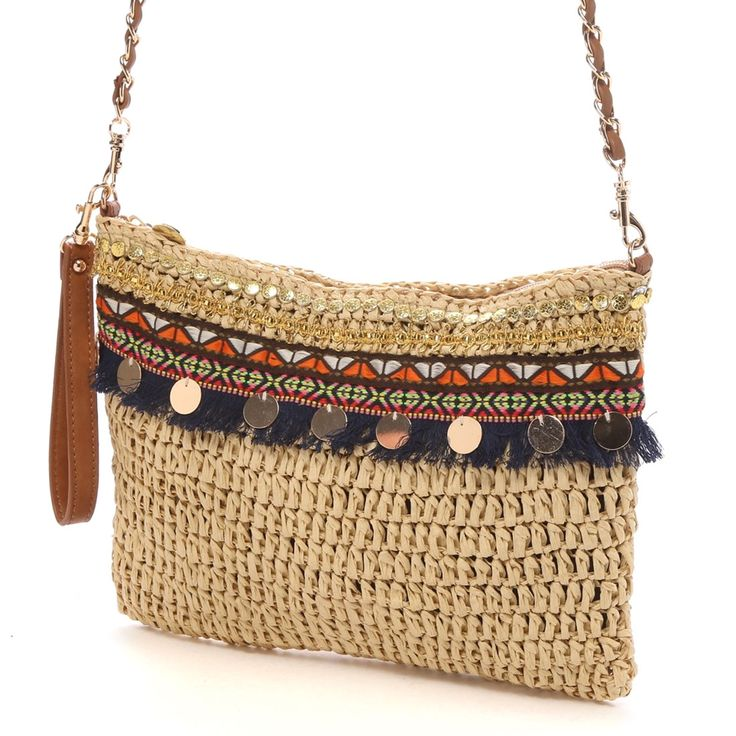cache cache crochet clutch bag