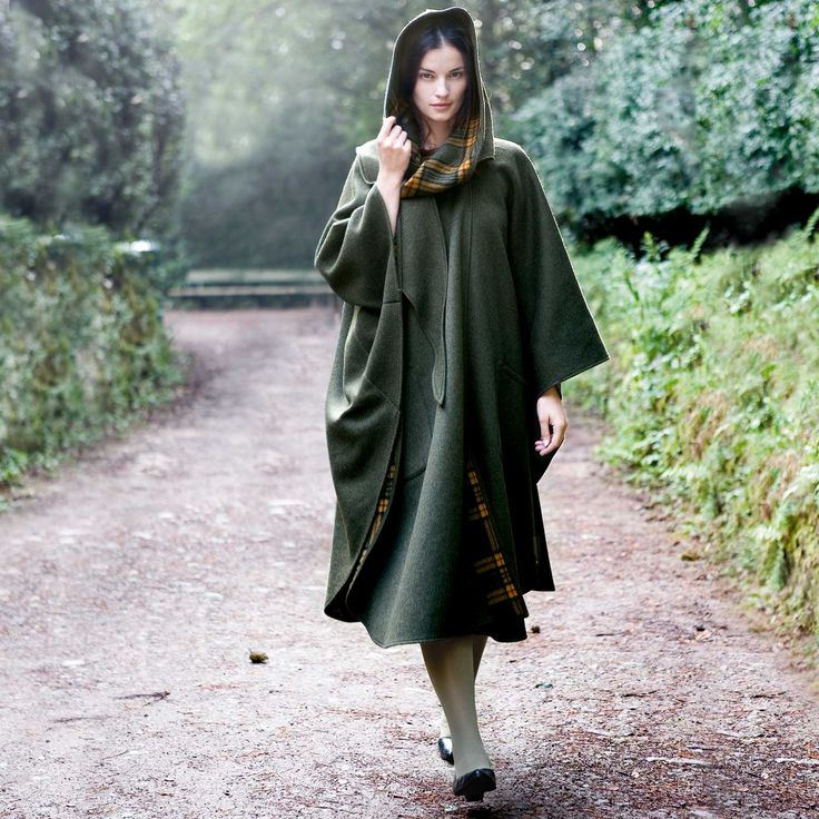 Irish Green Pure New Wool Country Walking Cape #MothersDay ...