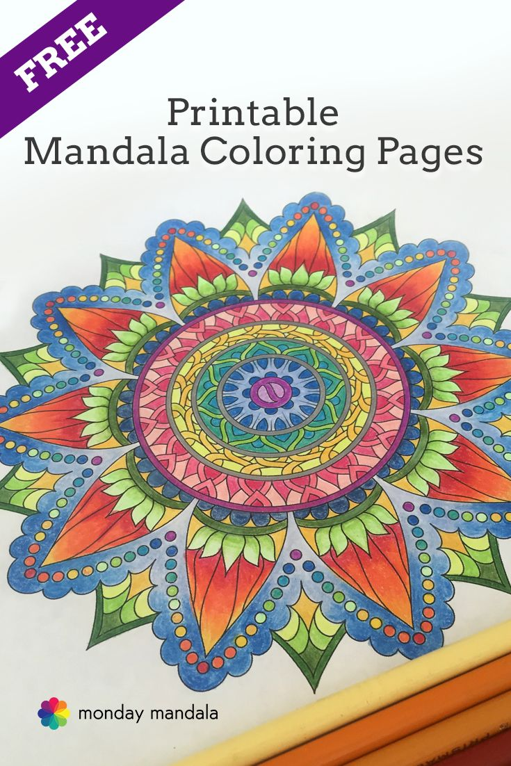 Adult coloring pages free printables mandala - Free Printable Mandala Coloring Pages Download Print And Share From Mondaymandala