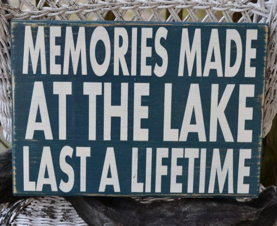 Lake Sign, Lake House Decor, Lake Decor, Cabin, Hand Painted, Reclaimed Wood Sign by CarovaBeachCrafts