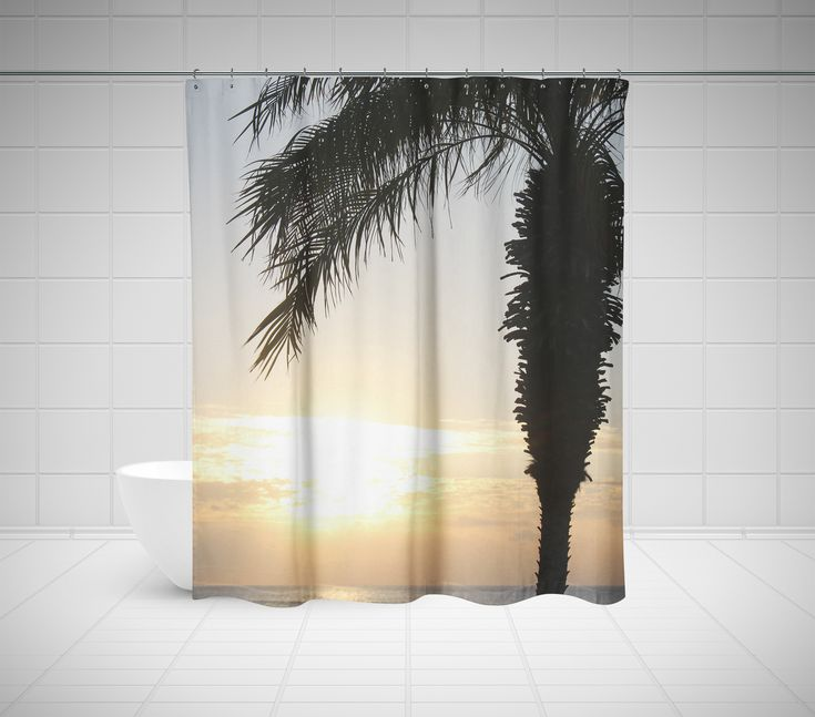 Epic Palm Tree Fabric Shower Curtain On Beautiful Colorful Tree Shower Curtain Fabric Curtains In Green