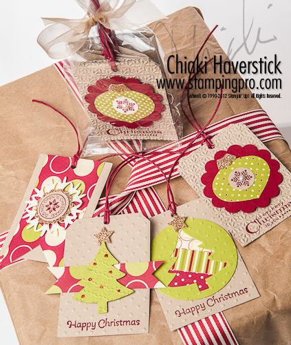 Christmas tag done with stampin up products
