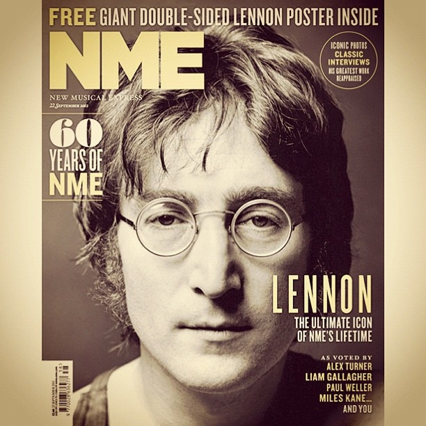 I'm so thrilled that NME have voted John Lennon as the Ultimate Icon of NME's Lifetime. A great surprise to wake up to this morning! Thankyou, NME and thankyou to all of you who voted for John. I'm sure he's thrilled, too - up there! Big kiss, yoko by Yoko Ono official, via FlickrNme Lifetime, Ultimate Icons, Voting John, John Lennon