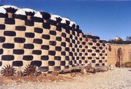 Tire Retaining Walls Design Cabin Earthship Home