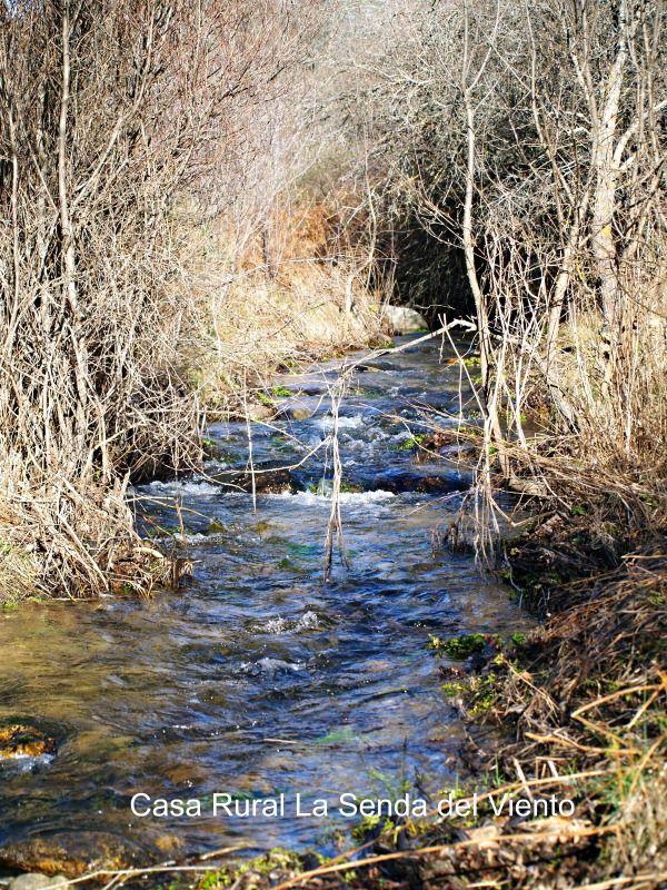 Arroyo del Valle Hermoso, sol y agua en invierno