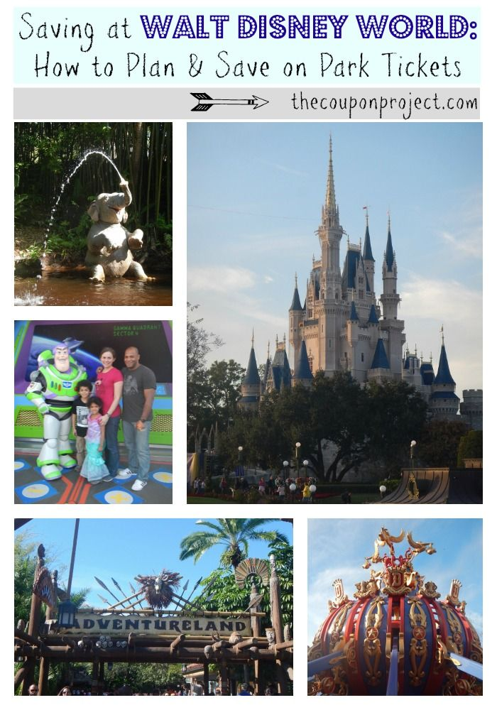 The Coupon Project's Part 1 of 2: Saving at Walt Disney World | Planning & Saving on Park Tickets