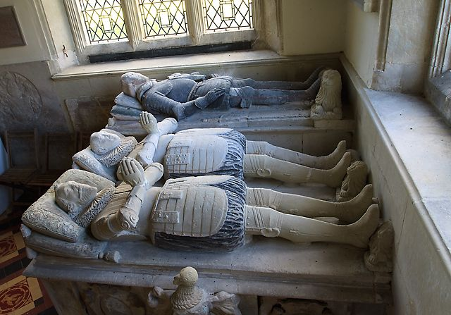 Tomb-monument of Henry Ley - St Michael's church, Teffont Evias (detail - 1) by Mike Searle, via Geograph