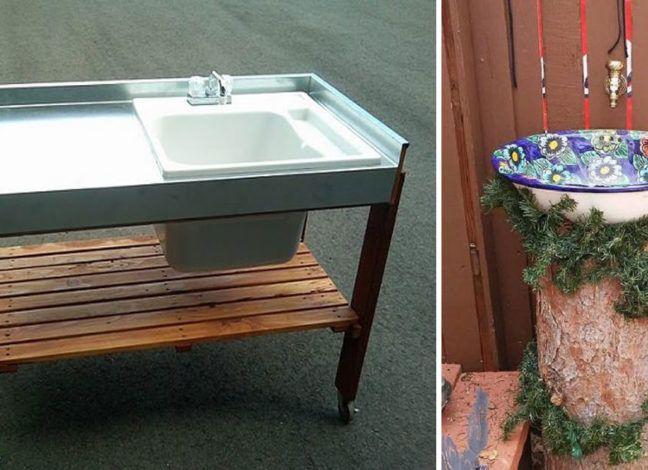 17 Diy Outdoor Sink Ideas For Your Garden In 2020 Outdoor Sinks Outdoor Kitchen Sink Simple Outdoor Kitchen