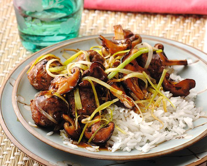 Teriyaki gehaktbal en witte rijst recept