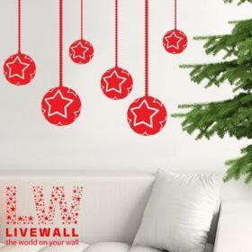 Χριστουγεννιάτικες Μπάλες με Αστέρια