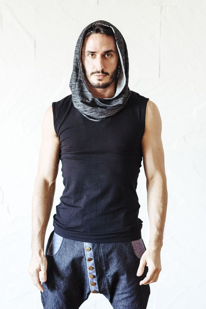 Image of AAMU Hoodie - Premium cowl neck sleeveless bamboo Jedi hoodie with cotton hood
