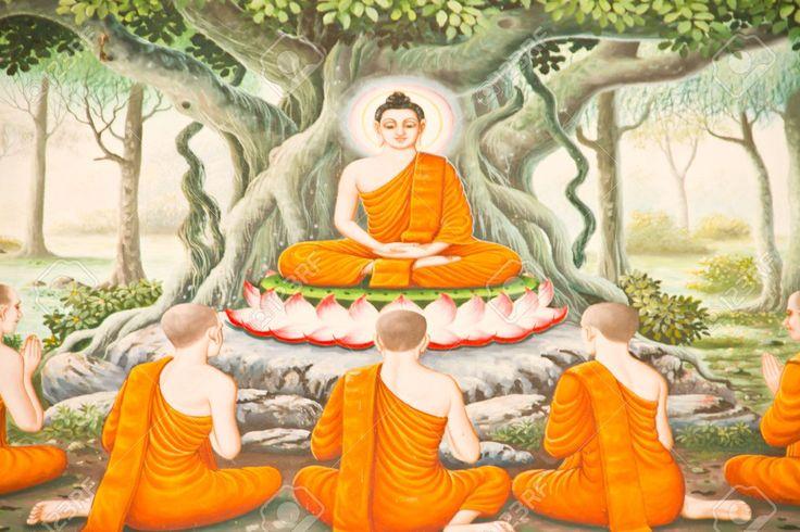 pittura-tailandese-sulla-parete-del-tempio-su-allegoria-vessantara-biografia-del-buddha-