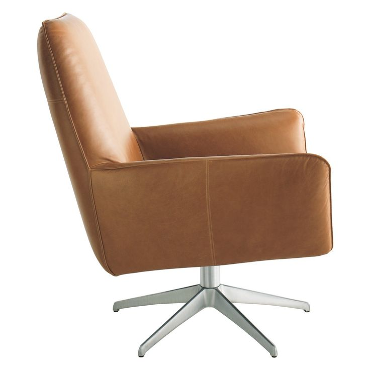 TOULOUSE Mid Tan Leather Swivel Armchair | Toulouse, Tan Leather And  Armchairs