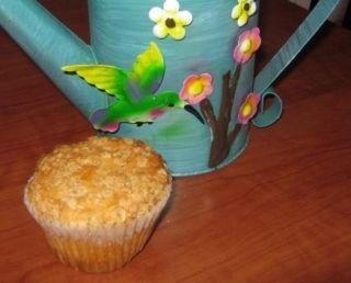 Muffins aux pommes, garniture de flocons d'avoine