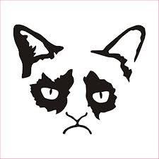 grumpy cat pumpkin stencil - Google Search