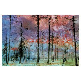 Full of the subtle majesty of an autumnal walk through the forest, this canvas art print is the perfect focal point for your contemporary kitchen. Pair with a rustic wood table, white brick tiles and metallic worktops to complete the look.  Product: Wall artConstruction Material: CanvasFeatures: Ready to hangCleaning and Care: Wipe with damp cloth
