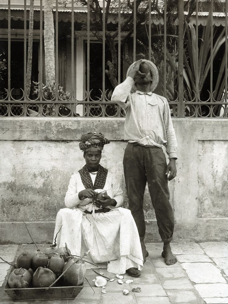Phos - Coconut Seller, Pointe-a-Pitre, Guadeloupe, ca 1895
