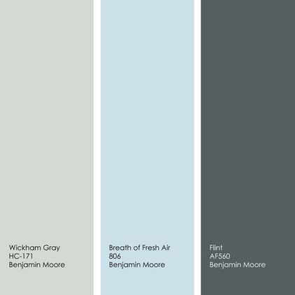 Benjamin Moore's 2014 color of the year - Breath of Fresh Air. (Love it sooooo much more than Pantone's pick of radiant orchid!)