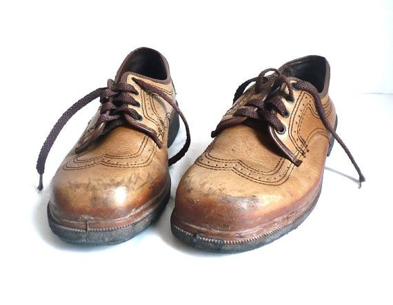 HECKEL French Vintage Safety Footwear / Leather Oxford by bOmode, $69.00