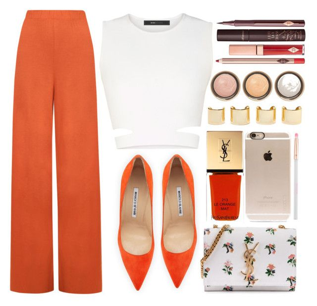 """""""Untitled #3512"""" by monmondefou ❤ liked on Polyvore featuring WearAll, BCBGMAXAZRIA, Manolo Blahnik, Yves Saint Laurent, Charlotte Tilbury, Luv Aj, By Terry, Incase, Accessorize and women's clothing"""