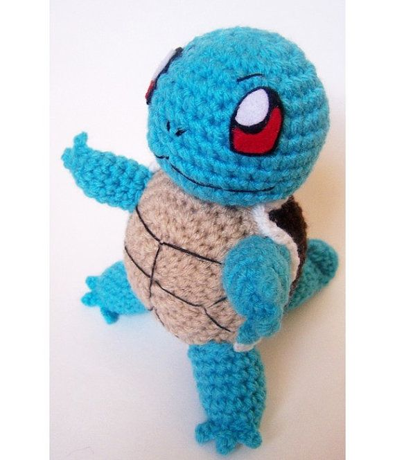 Squirtle Crochet Pokemon Plush Original 150 by fluorescentspace, $26.00