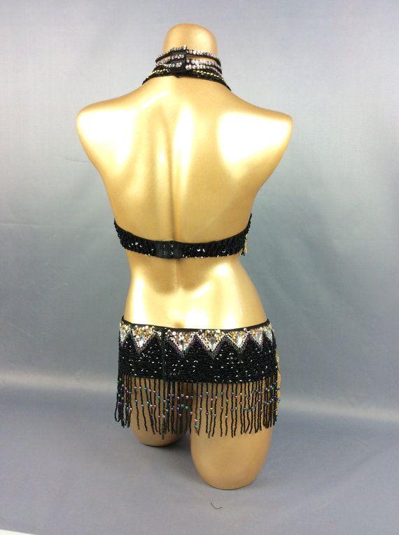 SPEDIZIONE GRATUITA a mano perline danza del ventre Samba