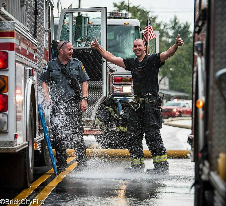 FEATURED POST   @brickcityfire -  East Brunswick NJ Firefighter cools off after…