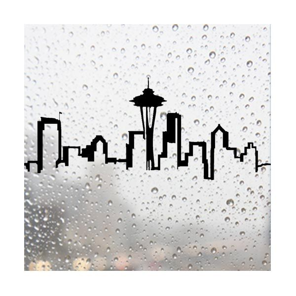 "Black Seattle Decal, LARGE (approx 10""x24""). $24.95, via Etsy."