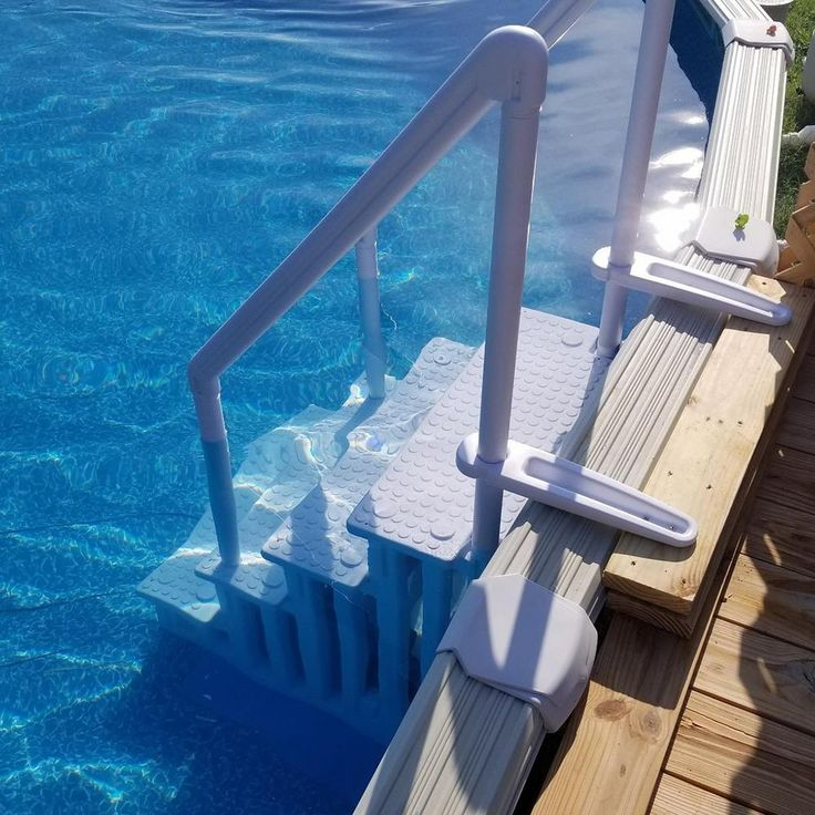XtremepowerUS 32 in. Plastic Pool Safety Ladder 4Step