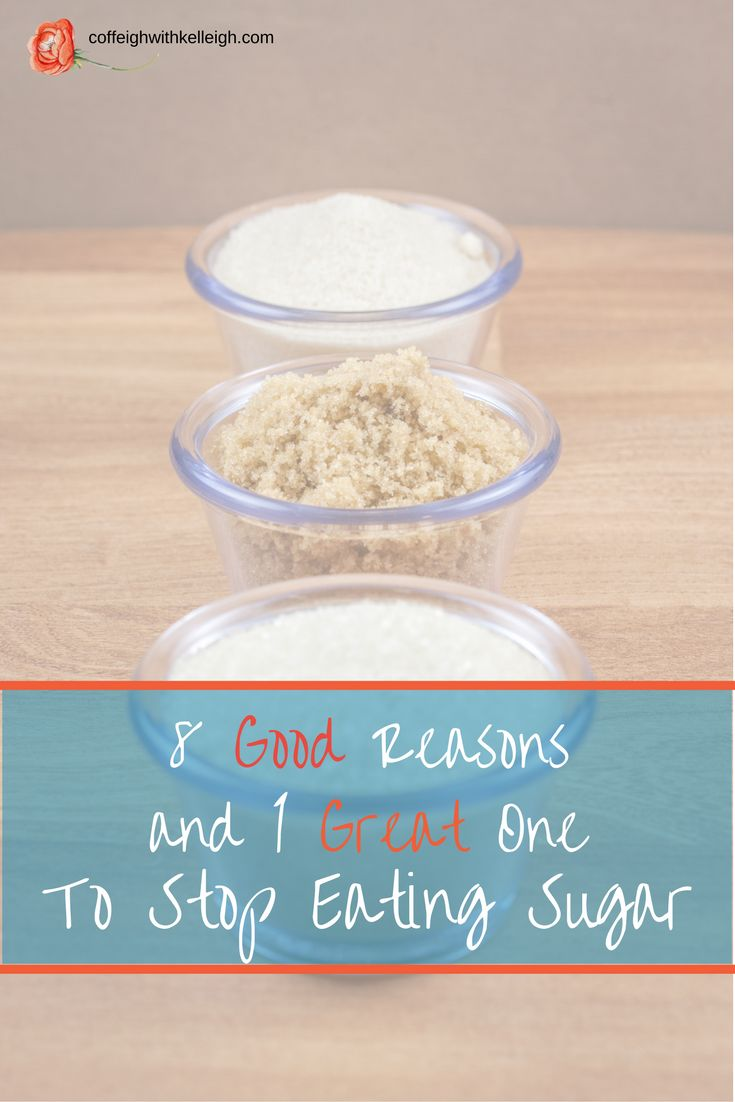 Great reasons to stop eating sugar including weight loss, healthy blood sugar, sugar addiction, healthy pancreas, lower calorie intake and slowing down candida growth.